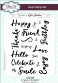 Creative Expressions - Stylish Script A5 Clear Stamp Set - CEC820